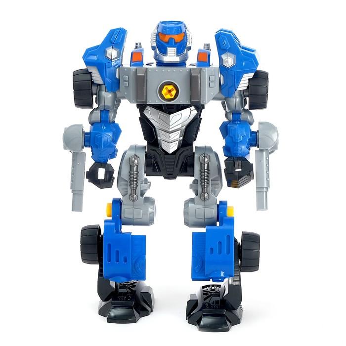 Конструктор-машина «Мега робот», 3 в 1, со световым шуруповёртом, работает от батареек