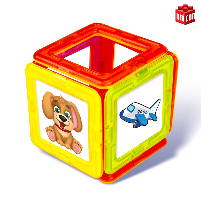 Магнитный конструктор Magical Magnet, 20 деталей, прозрачные
