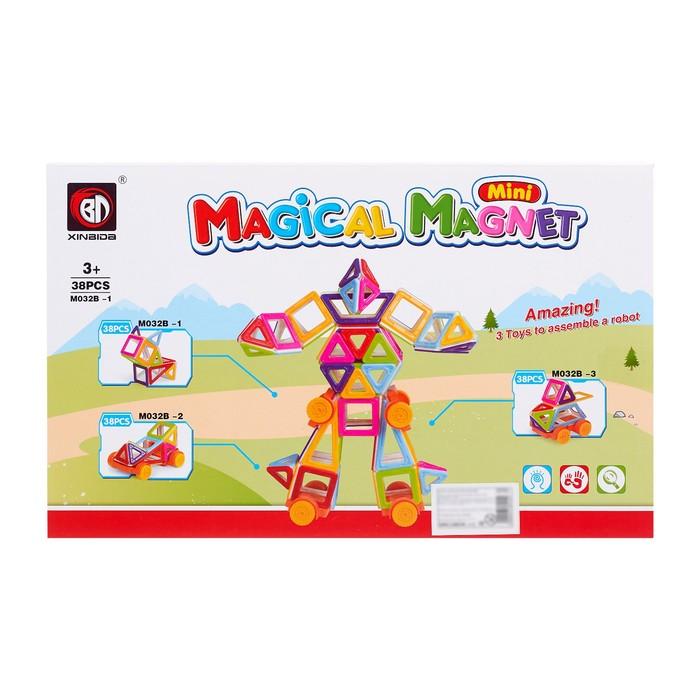 Конструктор магнитный «Мини-магический магнит», 38 деталей