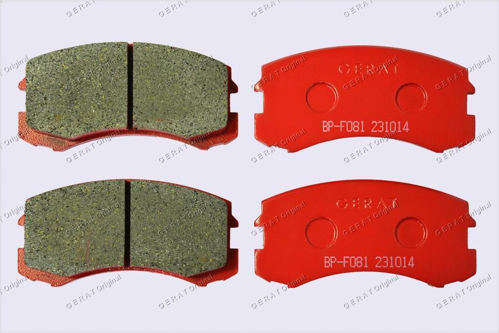 Тормозные колодки Gerat BP-F081