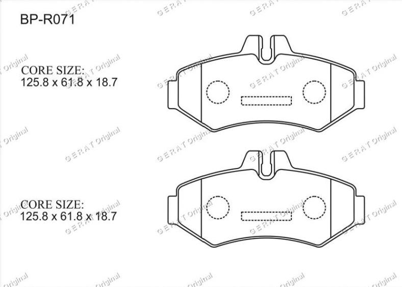 Тормозные колодки Gerat BP-R071