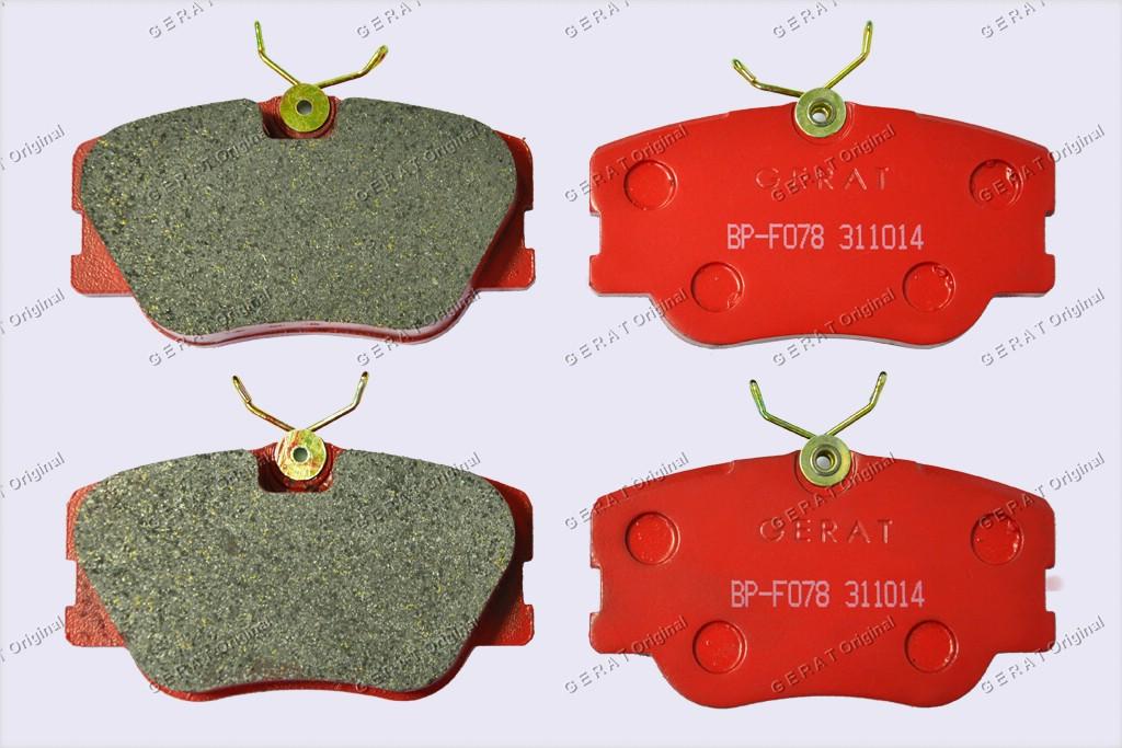 Тормозные колодки Gerat BP-F078
