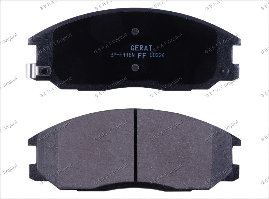 Тормозные колодки Gerat BP-F116 Normal