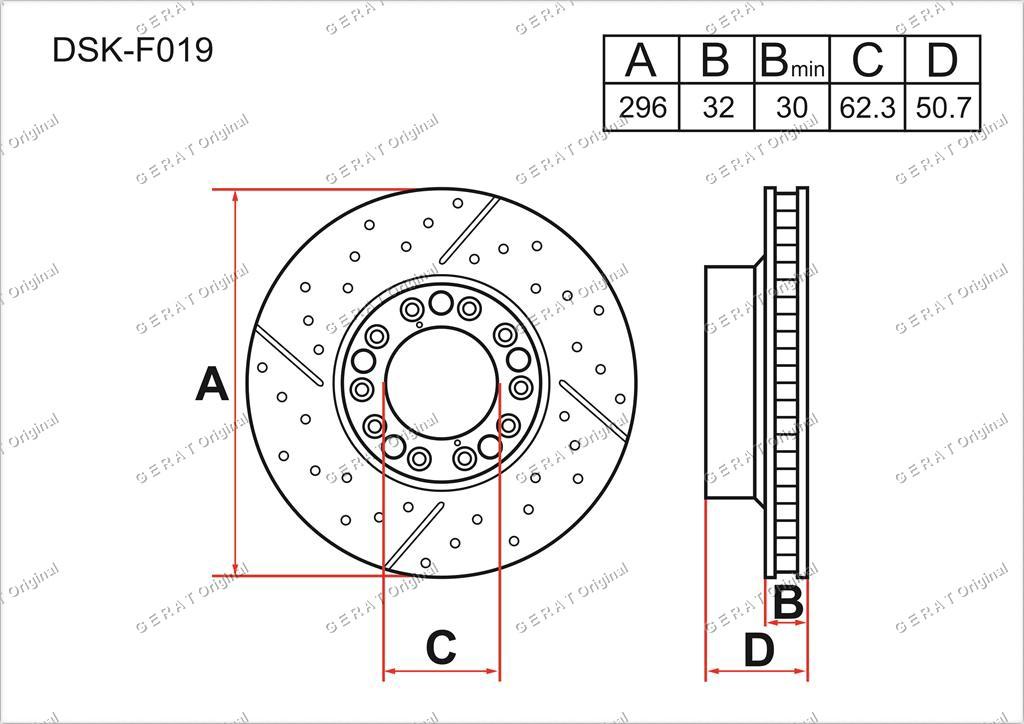 Тормозные диски Gerat DSK-F019