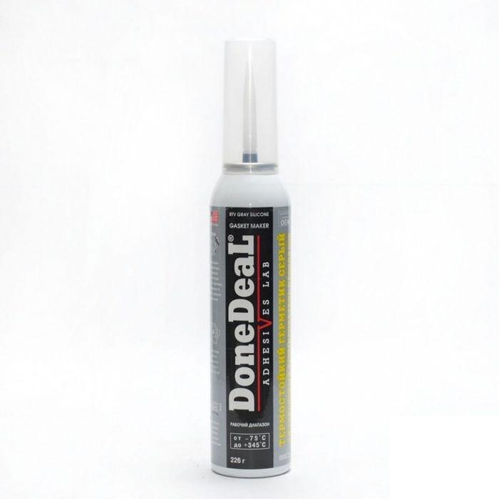 Герметик силиконовый DONE DEAL серый, 205 г