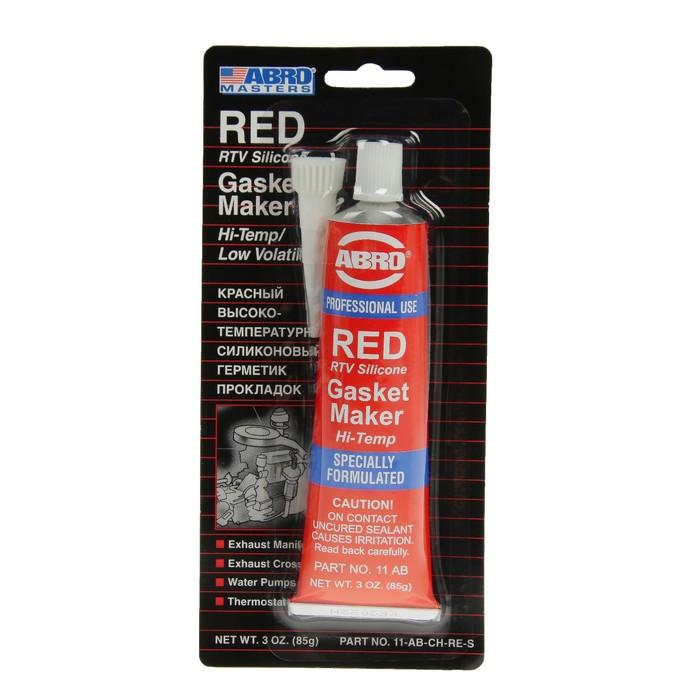 Герметик прокладок ABRO MASTERS красный, на узком блистере, 85 г 11-AB-CH-RE-S