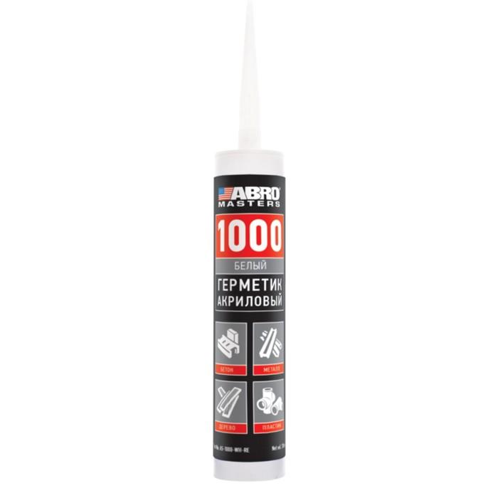 Герметик акриловый 1000 ABRO, белый, 310 мл AS-1000-WH-RE