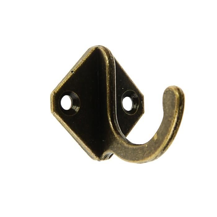 Крючок мебельный VINTAGE 003, цвет бронза
