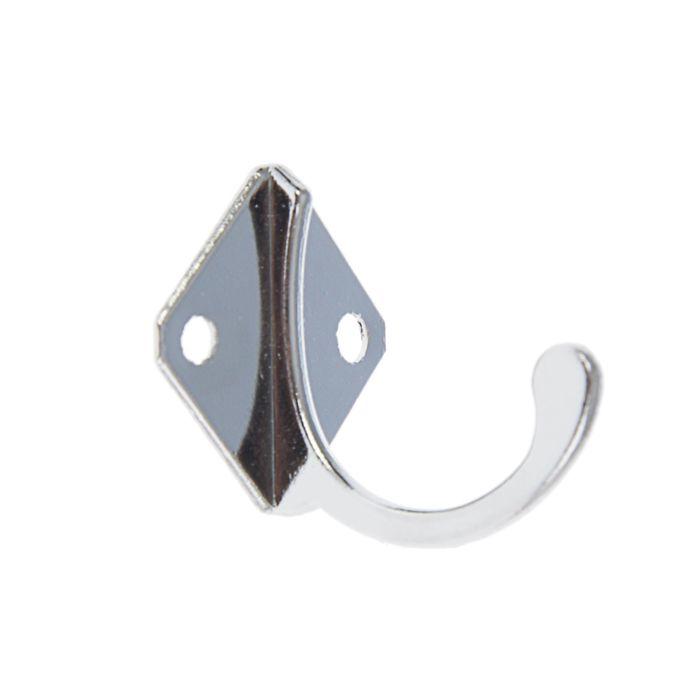 Крючок мебельный KM1001CP, однорожковый, цвет хром