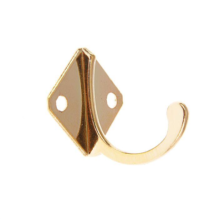 Крючок мебельный KM1001GP, однорожковый, цвет золото