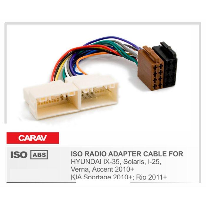 Евро разъём CARAV 12-033 (ISO адаптер HYUNDAI iX-35, Solaris, i-25, Verna)