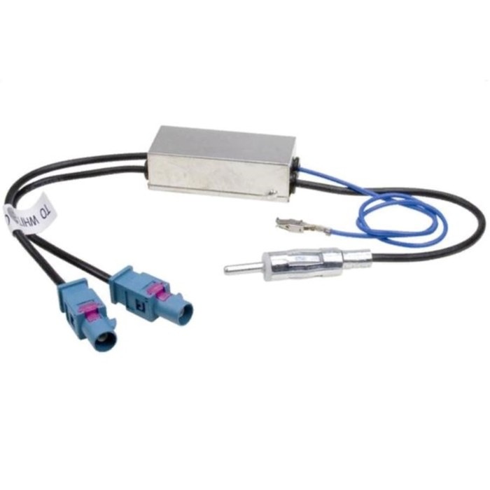 Антенный переходник ACV с активным питанием двойной AD12-1609, Audi/Merсedes/Skoda/VW