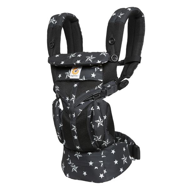 Рюкзак-кенгуру Ergobaby Omni 360 Cool Air Mesh Black Stars