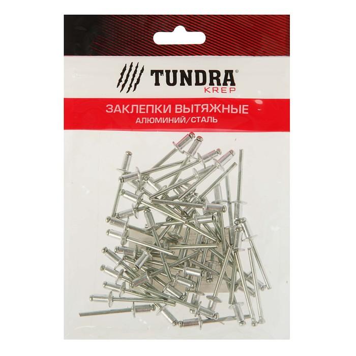 Заклёпки вытяжные TUNDRA krep, алюминий-сталь, 50 шт, 4 х 8 мм