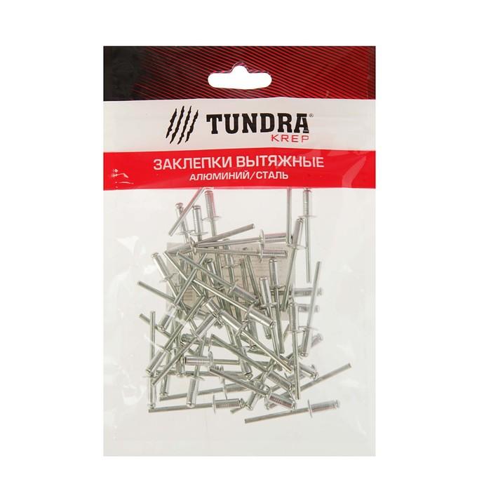 Заклёпки вытяжные TUNDRA krep, алюминий-сталь, 50 шт, 4 х 10 мм