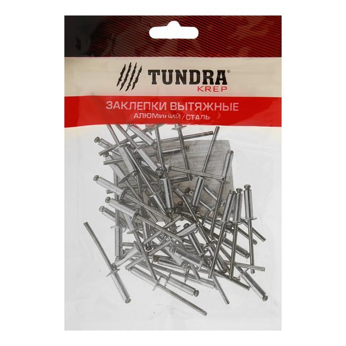 Заклёпки вытяжные TUNDRA krep, алюминий-сталь, 4 х 14 мм, в пакете 50 шт.