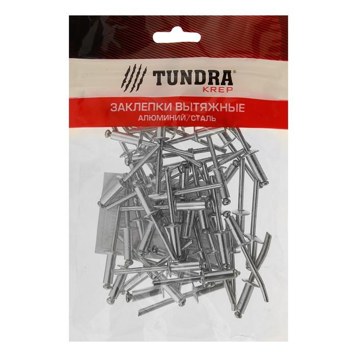 Заклёпки вытяжные TUNDRA krep, алюминий-сталь, 4.8 х 14 мм, в пакете 50 шт.