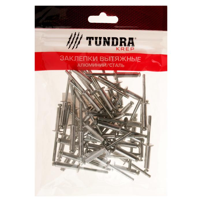 Заклёпки вытяжные TUNDRA krep, алюминий-сталь, 4.8 х 18 мм, в пакете 50 шт.