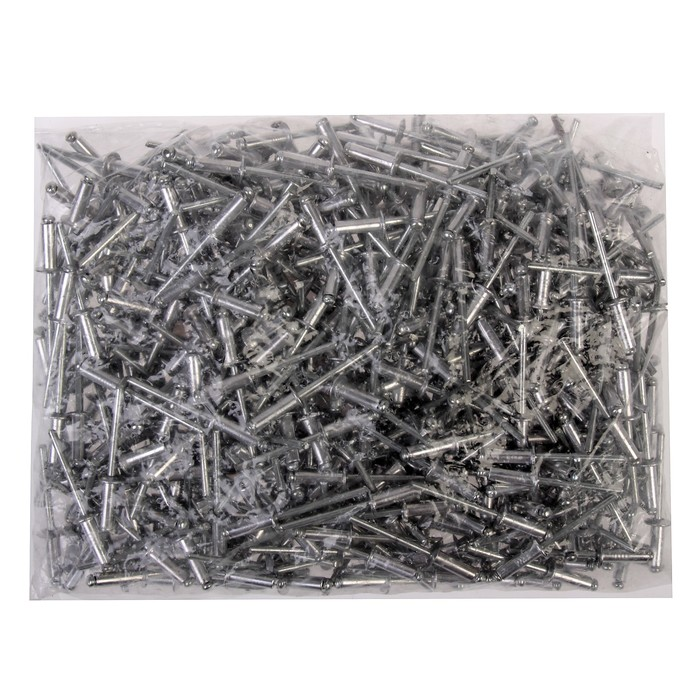 Заклёпки вытяжные TUNDRA krep, алюминий-сталь, 4 х 12 мм, в пакете 500 шт.