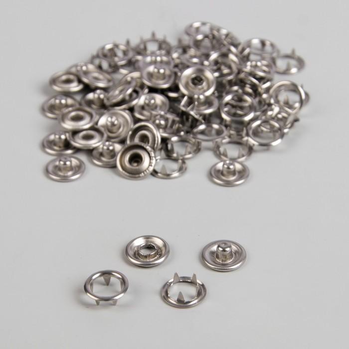 Кнопки рубашечные, d = 9,5 мм, 1000 шт, цвет серебряный