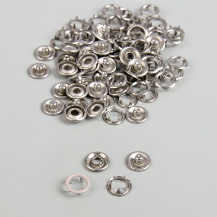 Кнопки рубашечные, d = 9,5 мм, 1000 шт, цвет бежевый