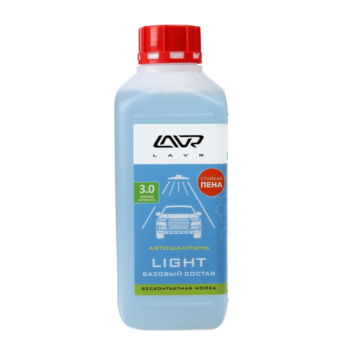 Автошампунь LAVR Light бесконтакт, 1:50, 1 л, бутылка
