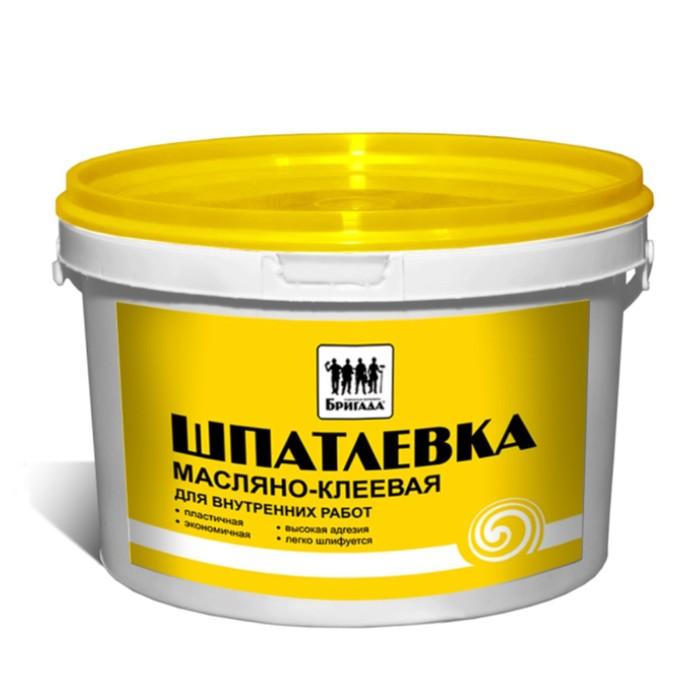 Шпатлевка масляно-клеевая, для внутренних работ «Бригада» 1кг