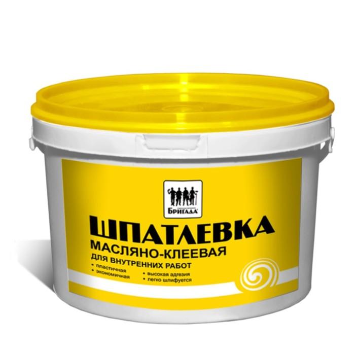 Шпатлевка масляно-клеевая, для внутренних работ «Бригада» 3кг