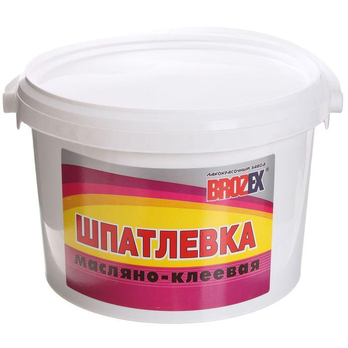 Шпатлёвка масляно-клеевая Brozex, 5 кг