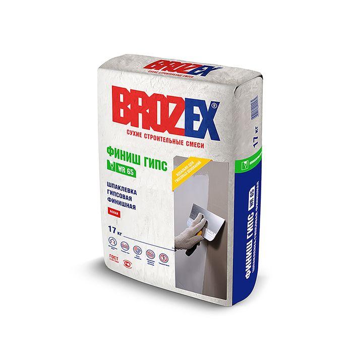 Смесь шпаклевочная гипсовая Brozex WR 65 ФИНИШ ГИПС 17,0 кг
