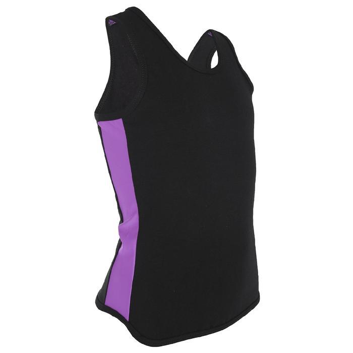 Майка-борцовка с лампасами, размер 34, цвет чёрный-фиолет