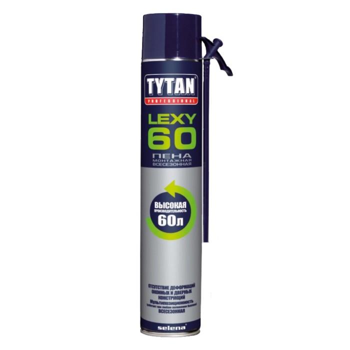 Пена монтажная Tytan Professional Lexy 60, всесезонная, 750 мл, до 60 л
