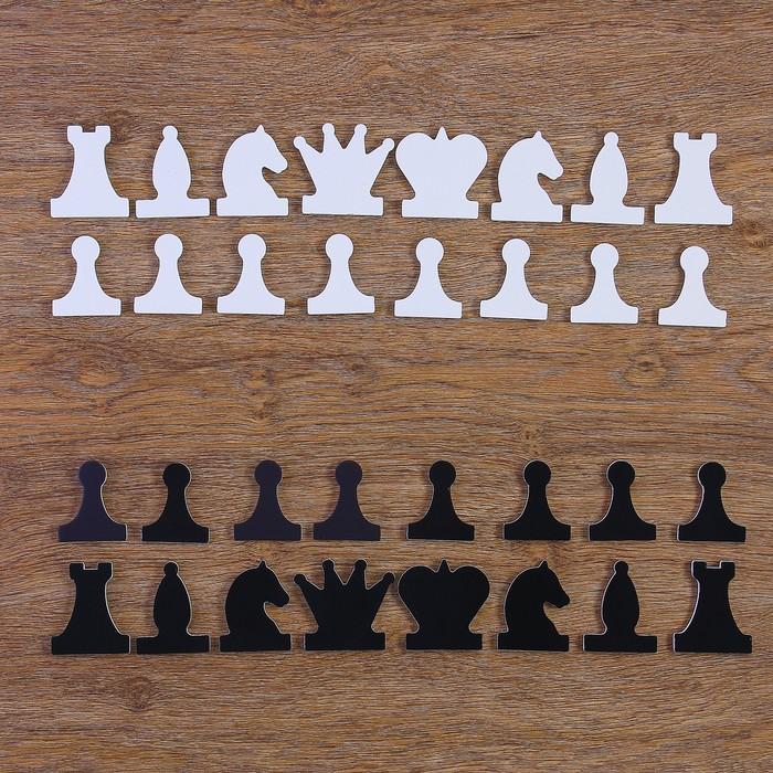 Набор магнитных фигур для демонстрационных шахмат, король h=6.3 см, пешка h=5.5 см