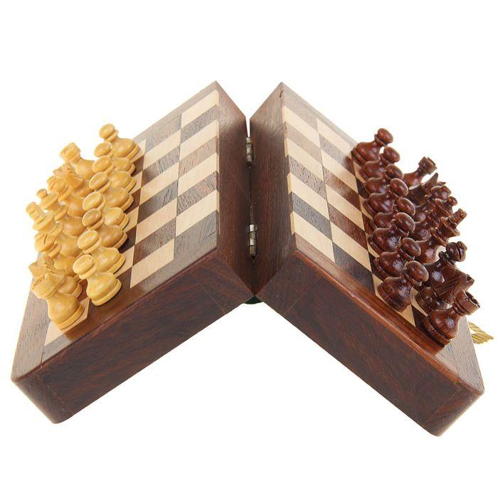 Магнитные шахматы дерево 4х6,5х13 см