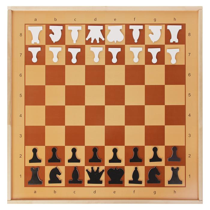 Демонстрационные шахматы магнитные (игровое поле 70х70 см, фигуры полимер, король h=6.3 см)