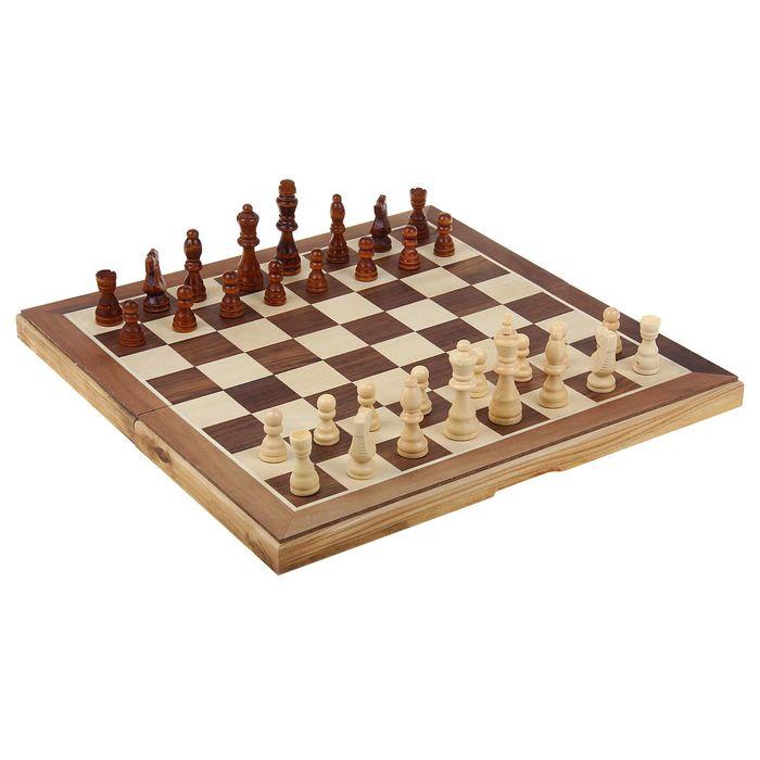 """Шахматы """"Подарочные"""", (фигуры дерево, доска дерево 40х40 см)"""