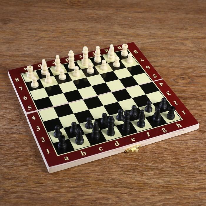 "Игра настольная ""Шахматы"", доска дерево 24х24 см микс"