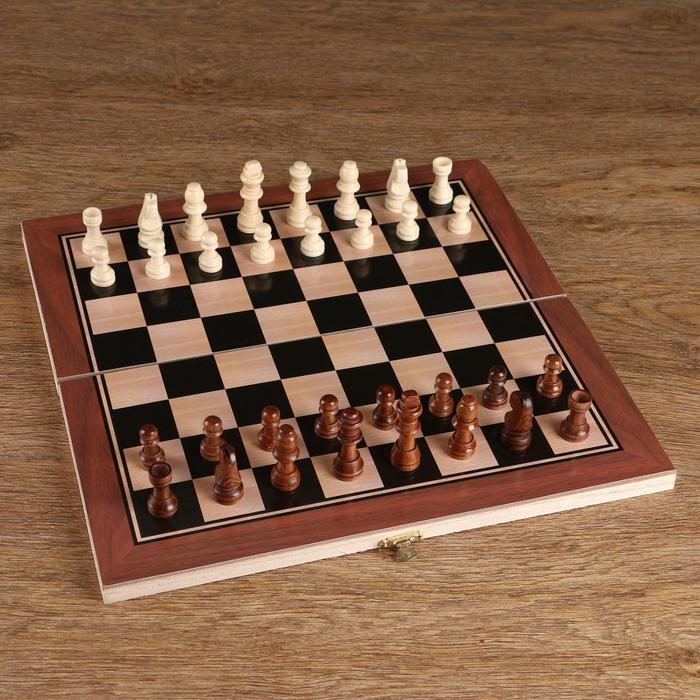Шахматные фигуры, дерево, высота короля 5,5 см, в пакете  микс