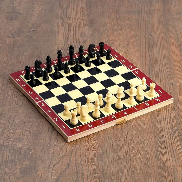 "Настольная игра 3 в 1 ""Карнал"": нарды, шахматы, шашки, фишки - дерево, фигуры - пластик"