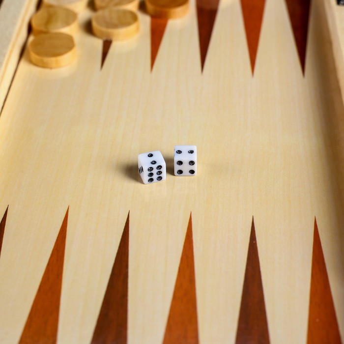 """Настольная игра 3 в 1 """"Узоры"""": нарды, шашки, шахматы, поле 30х30 см, дерево"""