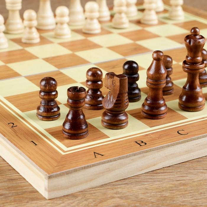 "Настольная игра, набор 3 в 1 ""Тахап"": нарды, шахматы, шашки, доска 34х34 см"