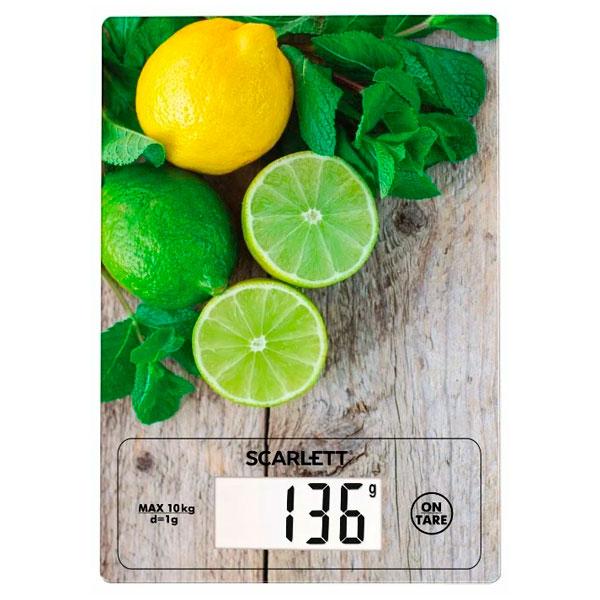 Весы кухонные  Scarlett Лайм и лимон (SC-KS57P21)