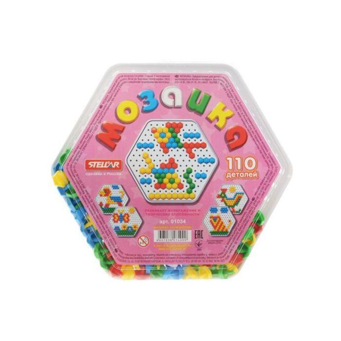 Мозаика шестигранная, диаметр 13 мм, 110 шт