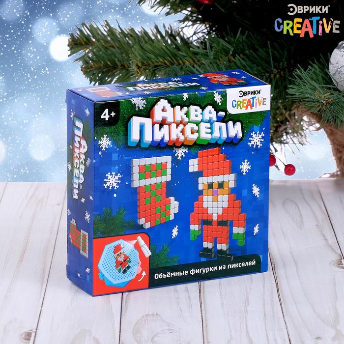 Аквамозаика «Дед мороз и носок», 200 деталей