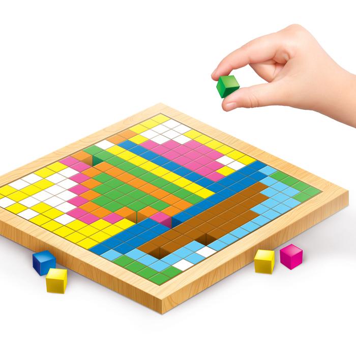 """Мозаика. Цветные кубики """"Транспорт"""""""