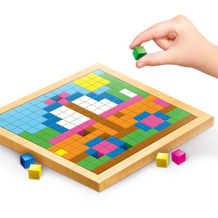 """Мозаика. Цветные кубики """"Городской транспорт"""""""