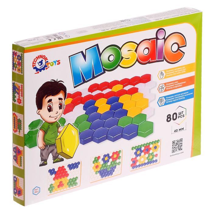 Мозаика для малышей 1, 80 элементов 4 см