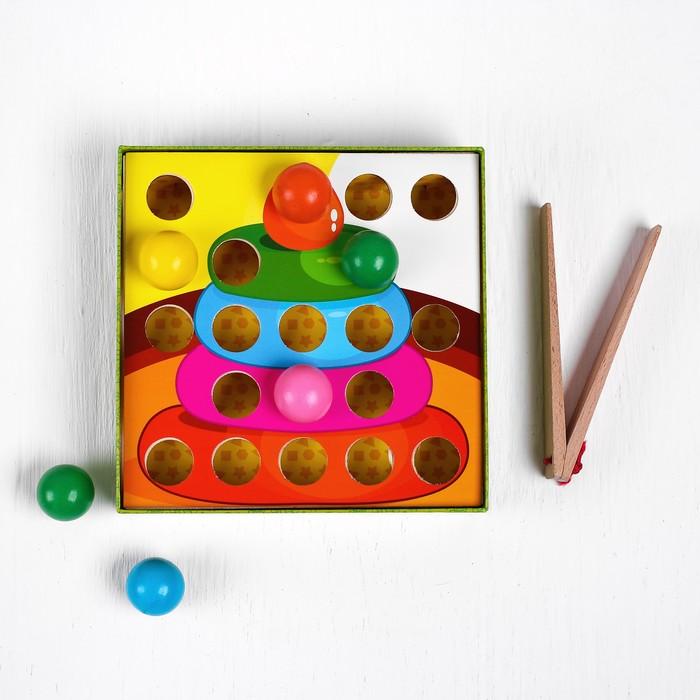 """Мозаика """"Игрушки"""" с карточками и шариками"""