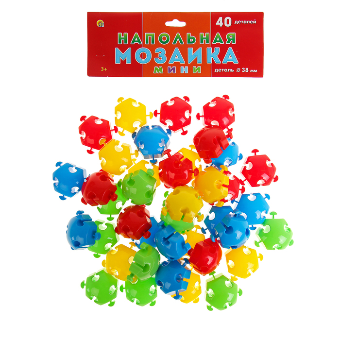 Мозаика напольная, 40 элементов, в пакете