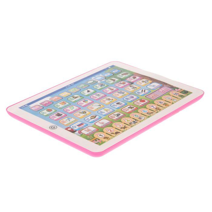 """Обучающий планшет """"Азбука"""", 10 функций, работает от батареек"""